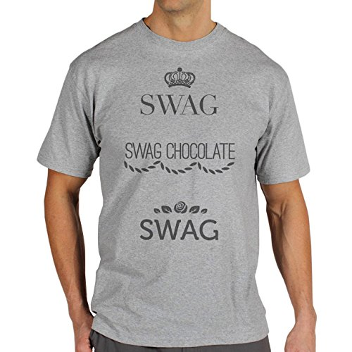 SWAG Chocolate Swag Grey Logo Background Herren T-Shirt Grau