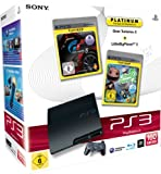 PlayStation 3 - Konsole Slim 160 GB + Gran Turismo 5 [Platinum] + LittleBigPlanet 2 [Platinum]
