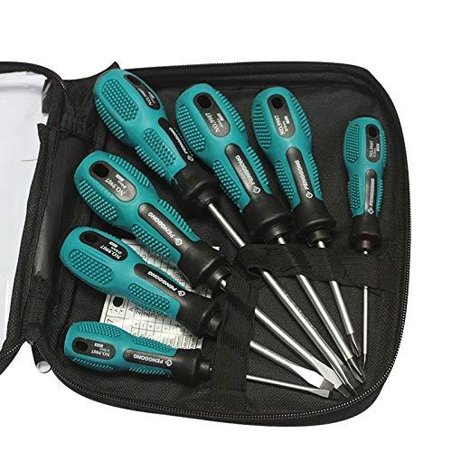 Präzisions-Schraubendreher-Set, magnetische Schraubendreher-Set, professionelle Elektronik-Reparatur-Werkzeug-Set mit tragbarer Tasche für die Reparatur von Handy, Uhr, Tablet, 7-teiliges Set