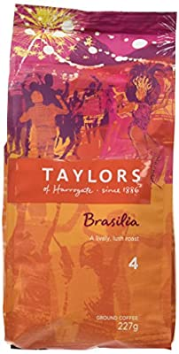 Taylors of Harrogate Cafe Brasilia Rich Roast Ground Coffee 227 g (Pack of 3) from TAYP3