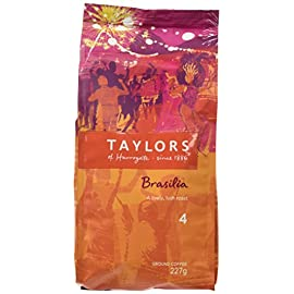 Taylors of Harrogate Cafe Brasilia Rich Roast Ground Coffee 227 g (Pack of 3)