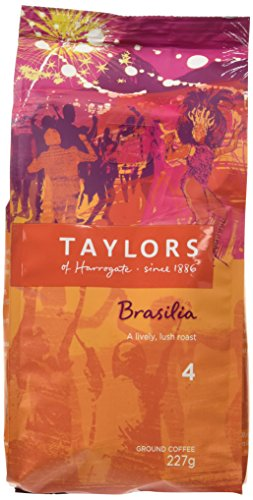 Taylors of Harrogate Cafe Brasilia Rich Roast Ground Coffee 227 g (Pack of 3)