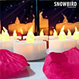 SNOWBIRD® 6 Pcs Flameless Smoke Free LED Tea Light Candles/ Led Candles / Party Candles (Natural Flame) For Home Decor, For Festival Decoration & Lightining, Birthday/ Festival / Anniversary / All Purpose (Battery Included)