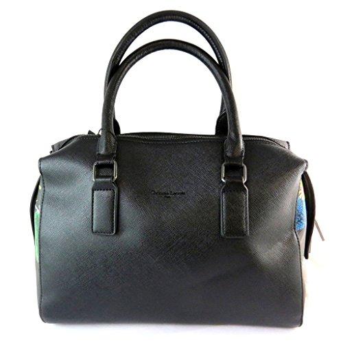 Bowling bag 'Christian Lacroix'multicolore nero - 34x25x16 cm.