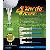 4 Yards More Reduced Friction Golf Tee 1-3 4 2-3 4 3-1 4 4 Variety Pack and Hybrid