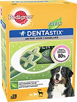 Pedigree Dentastix Fresh - Friandises pour Grand Chien - 28 Sticks Hygiène bucco-Dentaire - Pack DE 4 (4 x 28 Sticks)