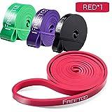 FREETOO Resistance Band Fitnessbänder professionelle Latex Widerstand Bänder Pull-Up Bänder Klimmzughilfe (F)