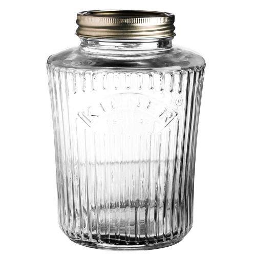 Kilner Einmachglas, Einkochglas, Vorratsglas - Vintage Preserve Jar - 1 Liter - Glas - mit Deckel (Storage Glass System)