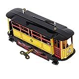 Blesiya VTG Tranvía Trolleybus Streetcar Wind Up Tin Toy City Traffic Collectible Gift