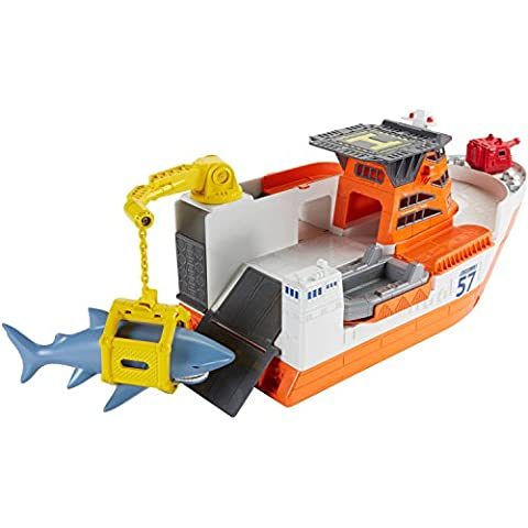 Floats Water and Rolls on Land Car-Go Commander Shark Ship, Multicolor by Matchbox