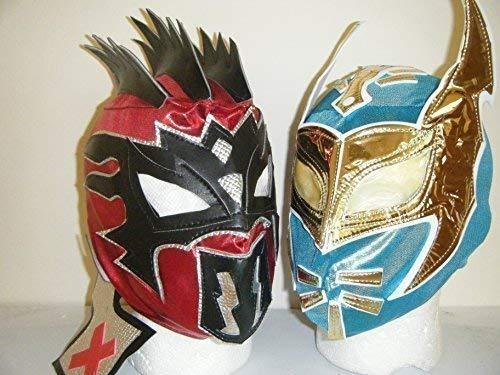 THE LUCHA DRAGONS ! SIN CARA & KALISTO Para Niños Con Cremallera Lucha Libre Máscaras (Ambas Máscaras)