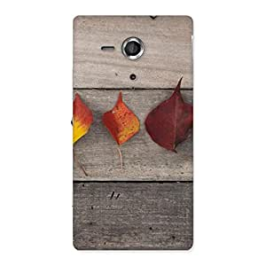 Gorgeous Leaves on Wood Back Case Cover for Sony Xperia SP