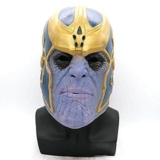 ABEDOE Marvel Avengers Masks, Thanos Masks Cosplay Party Mask Latex Helmet Superhero Avengers Basic Mask For Halloween Costume Party Decorations (Mask)