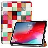 Ffish iPad Pro 11 2018 Hülle, mit Dreifach Gefaltet Ständer, Unterstützt Das Aufladen von Apple Pencil [Auto Wake/Schlaf] Schmales Schutzhülle für Apple iPad Pro 11 (Release 2018), Magischer Würfel