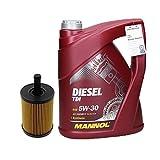 Motoröl Diesel TDI 5W-30 5L + Ölfilter