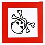 vsafety 6e052at-s Giftig Logo Achtung Hazard Diamanten Zeichen, selbstklebendes Vinyl, quadratisch, 200mm x 200mm x 200mm, schwarz/rot