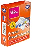 AlcoDigital French NF Approved Single Use Breathalyzer (Twin pack)