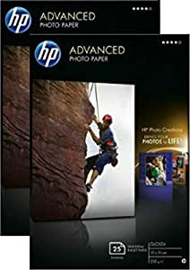HP Advanced Glossy Photo Paper-25 sht/10 x 15 cm borderless - Twin Pack