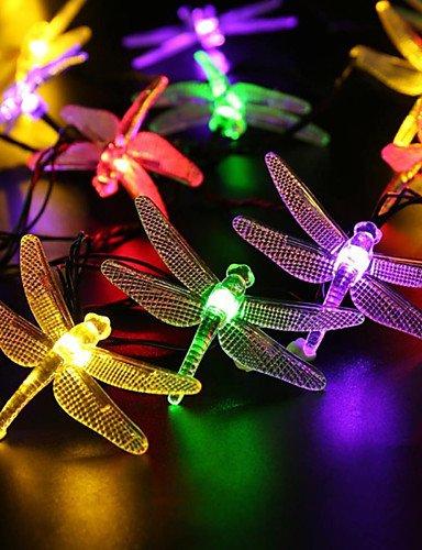 AIURLIFE solare esterno ha condotto la luce della stringa 5m 20 hanno condotto libellula striscia pannello solare giardino impermeabile luce della , multi color