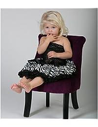 Ensemble 4 pièces, jupe satin modèle Black Zèbra 6 mois à 3 ans,4 ans à 8 ans