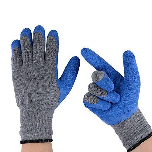Zapo Arbeitswerkzeug Latex-Handschuhe für Sicherheit und Schutz beim Bau und der Gartenarbeit für Männer Groß 2 Paar (Billig Die Haut Passen)