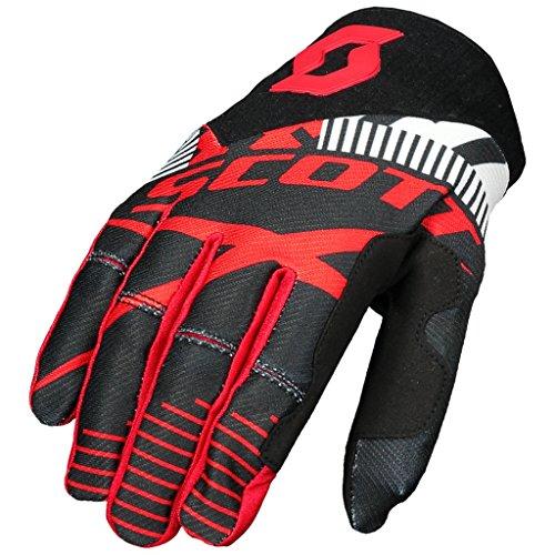 SCOTT 450 Patchwork Handschuhe Motocross Enduro Downhill MTB ATV MX SX Handschuhe Schwarz Rot (2XL) (Atv-rote Handschuhe)
