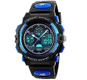 Hiwatch Sport per Bambini Digitale Impermeabile Orologio da Polso Orologi Blu