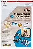 RAYHER HOBBY 89595701 Schrumpfende Plastikfolie, 26,2x20,2 cm, SB-Beutel 6 Stück, frost