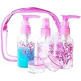 Vktech-5-en-1 Envases Perfumeros Colorido Con Atomizador Pack de Alta Calidad ,Atomizadores Distintas Fragancias para Viaje Cosméticos 80ml