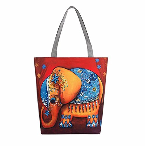 Longra Donna Borse Elephant tela di stampa D