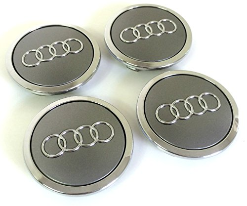 set-of-four-alloy-wheels-centre-hub-caps-grey-covers-badge-69-mm-8t0-601-170-a-fits-audi-juego-de-cu
