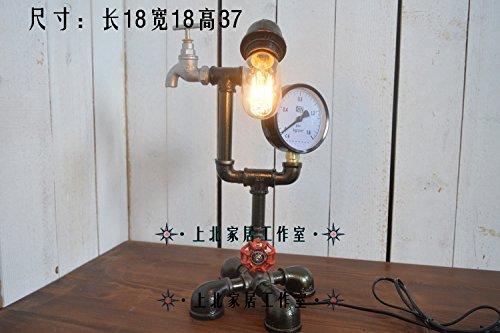 Preisvergleich Produktbild TD Tischlampe-Super Persönlichkeit Retro Wasser Bar Kaffee Hotel Shop Tisch Roboter Rohr Lampe