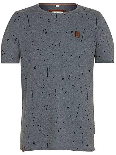 Naketano Male T-Shirt What's the 411 heritage dark ash melange