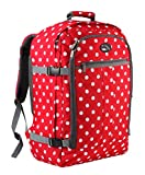 Cabin Max Backpack Flight Approved Carry On Bag Massive 44 litre Travel Hand Luggage 55x40x20 cm (Red Spot)