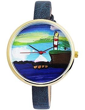 Excellanc Damenuhr mit verschiedenen gemalten Motiven - 10000030001-040-204-032, Farbe5