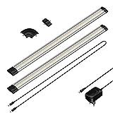 parlat LED Unterbau-Leuchte SIRIS, flach, je 50cm, 100cm Kabel, 400lm, warm-weiß, 2er Set