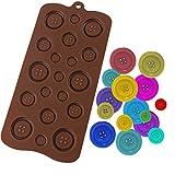 Luxbon Knöpfe Silikon Form für Fondant Schokolade Zuckerverzierung Cupcakes DIY
