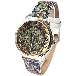 Zeigt Vintage-Originelle und Trend-Armband Leder-Ornament