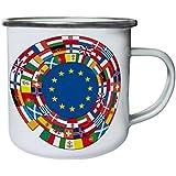 Nueva Unida Europe Retro, lata, taza del esmalte 10oz/280ml l461e