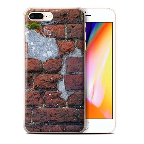 Stuff4 Hülle / Case für Apple iPhone 8 Plus / Feuerstein/Stein Muster / Mauerwerk Kollektion Zement/Rot