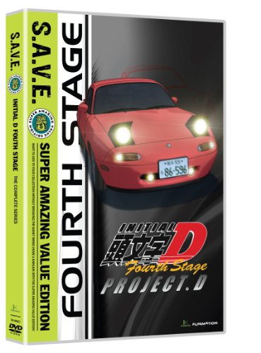 Initial D: Stage 4 - Save (4pc) / (Box) [DVD] [Region 1] [NTSC] [US Import]