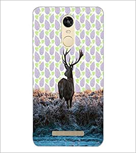 PrintDhaba Deer D-3428 Back Case Cover for XIAOMI REDMI NOTE 3 (Multi-Coloured)