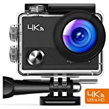 APEMAN 4K Action Waterproof Camera 16MP Ultra Full HD Wi-Fi Sport Cam 30M Diving Underwater Camera with 2.0 LCD Screen 170o Wide View Angle/2.4G Remote Control/2 Rechargeable Batteries