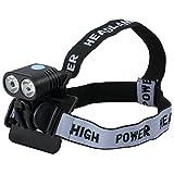 Justech FahrradLicht Fahrrad Scheinwerfer Kopflampe Vorne Stirnlampe Combo Wasserdicht Wiederaufladbar CREE XML T6 Batterie 8800mA