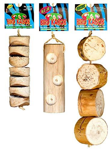 PETGARD 3er Mixpack-2 Vogelspielzeug Bird Kabob ideal für Sittiche und kleine Papageien