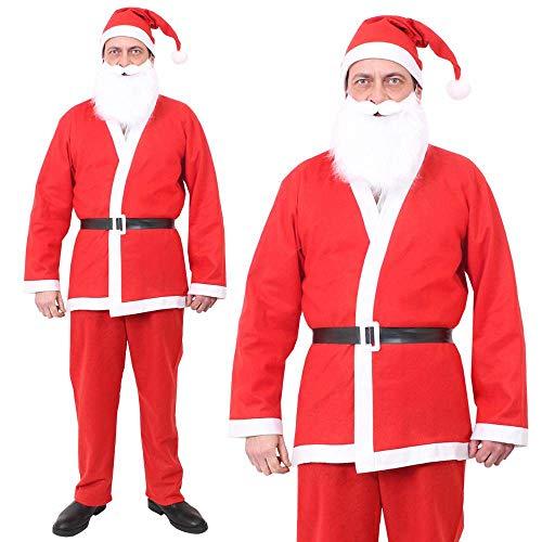 ILOVEFANCYDRESS 36 GÜNSTIGE WEIHNACHTSMANN Santa KOSTÜME = SUPER FÜR Betriebsfeier Weihnachtsfeier UND EINZELHANDEL ODER Fasching UND Karneval (Super Günstige Kostüm)