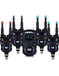 New Direction Tackle Coffret 4*détecteurs carpe K9 + 1*R9 Bluetooth récepteur