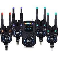Unbekannt New Direction Tackle Bluetooth Elektronische Bissanzeiger Fun Set(4X K9,1x R9 Mini-Receiver,1x Plastikbox, 8X Leuchten (R,G,B,P))