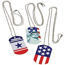 DollarItemDirect PATRIOTIC DOG TAGS Sold By Case Pack Of 11 Dozens