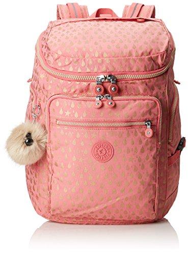 52fe68482 Kipling Upgrade Mochila escolar, 46 cm, 28 liters, Rosa (Pink Gold Drop